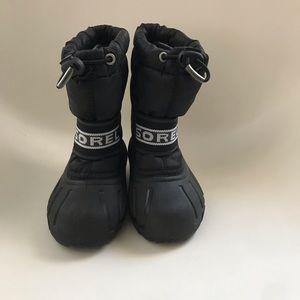 Sorel Black toddler snow boots size 8